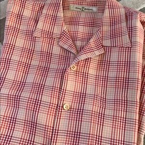 Tommy Bahama Short Sleeve 100% Silk Shirt